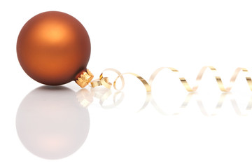 Brown Christmas bauble