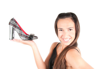 Woman with shoe