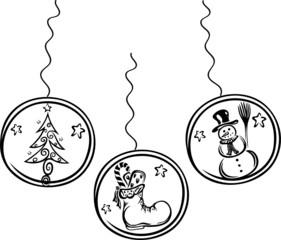 christmas elements, Weihnachten, Weihnachtskugeln
