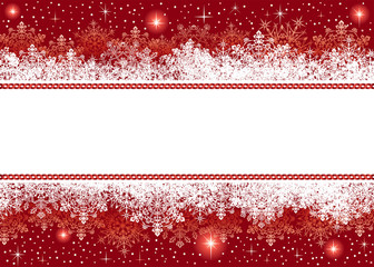 Christmas background from snowflakes and stars