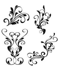 Printed kitchen splashbacks Butterflies in Grunge Floral decorations