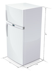Dimension d'un réfrigérateur (reflet)