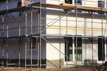 Neubau Baugerüst Einfamilienhaus