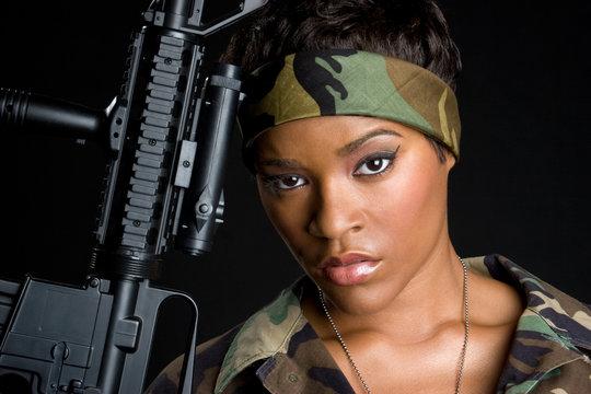 Tough Army Woman