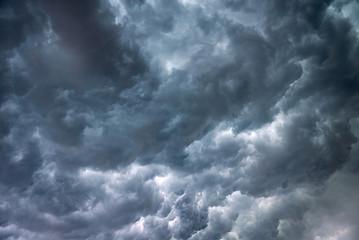 Sturm, Gewitterwolken