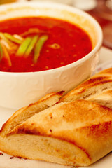Food - Hearty red spicy italian tomato soup