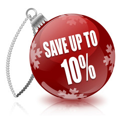 Save 10% bauble