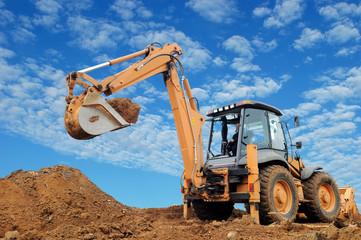 Excavator Loader with rised backhoe
