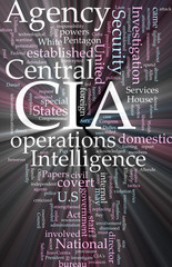 CIA Central Intelligence Agency glowing