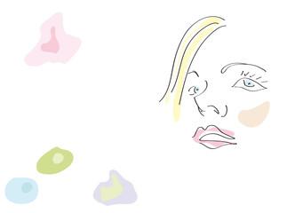 ritratto di donna acquarello