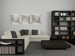black & white room  3
