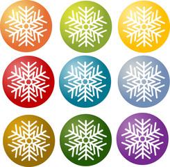 Snowflake simple illustration symbol