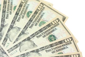 fan of dollar bills
