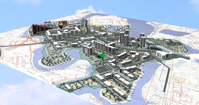 Project area of city