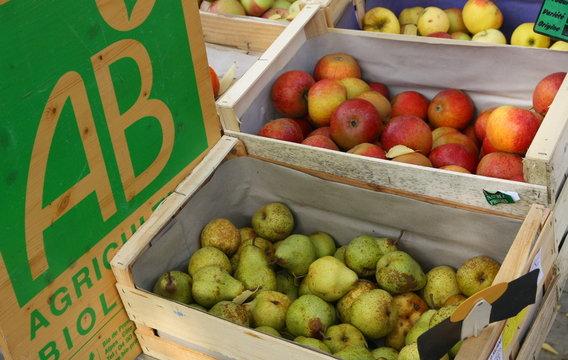 AB Agriculture Biologique Pommes et Poires