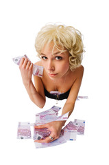 Girl with lots of money