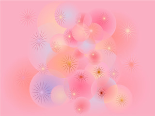 fantasy bubbles pink background