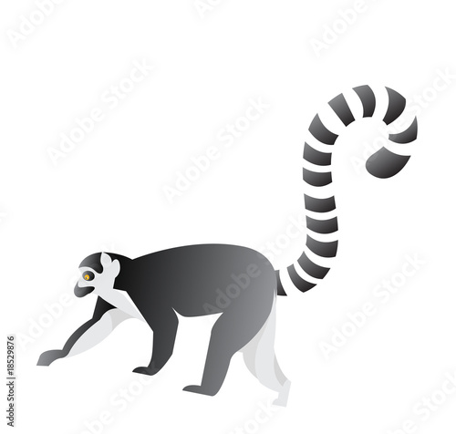 quot vector lemur clip art quot  stock image and royalty free lemur face clipart lemur clipart black and white