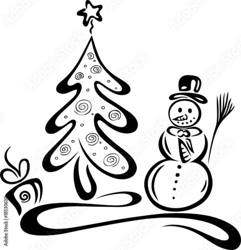 christmas tree xmas weihnachten schneemann baum. Black Bedroom Furniture Sets. Home Design Ideas