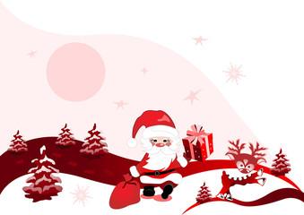 christmas design with santa claus