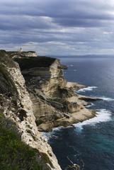 Falaise a Bonifacio en Corse