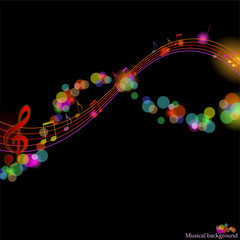 Shining magic musical abstract background