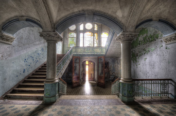 Canvas Prints Old Hospital Beelitz Beelitzer Säulengewölbe