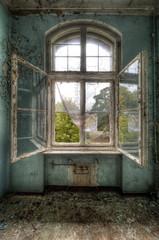 Keuken foto achterwand Oud Ziekenhuis Beelitz open window