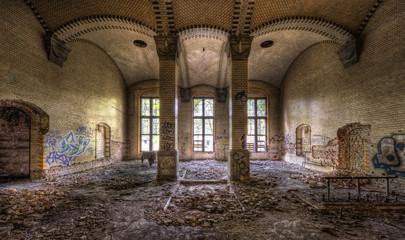 Papiers peints Ancien hôpital Beelitz Säulenhalle