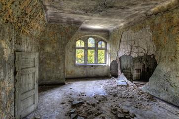 Keuken foto achterwand Oud Ziekenhuis Beelitz Loch in der Wand