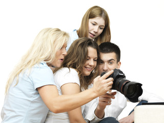 group of young people looking at a camera