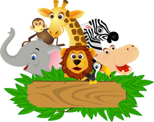 Poster de jardin Forets enfants Animal cartoon