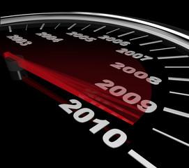 2010 - Speedometer Reaching New Year