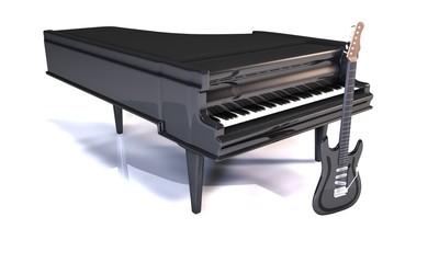 Piano et guitare électrique