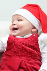 Baby with santa cap