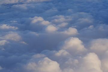 Wolkendecke von oben
