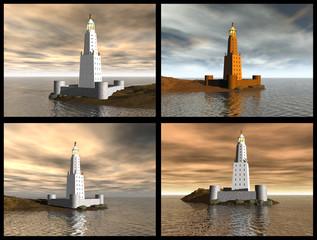 Lighthouse of Alexandria. 3D reconstructions