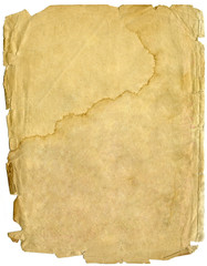 old sheet of paper, papyrus
