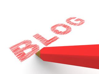 pencils depicting text blog