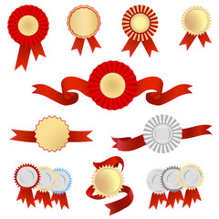 Vector set of golden tags