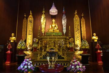Buddha image in church of Wat Phra Kaew, Chiang Rai, Thailand