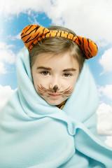 girl dressed as cub