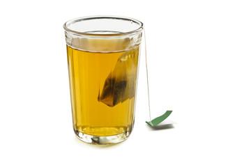 Glass with tea