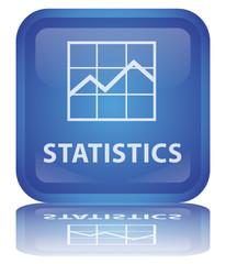 """"""" Statistics"""" Button (Square - glassy - vector - reflection)"""