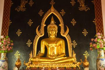 Buddha image in church of Wat Phrabart Mingmaung, Phrea province