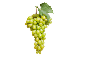 Tasty grape on a white