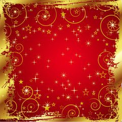 Red Background with Gold