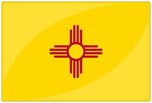 drapeau glassy nouveau mexique new mexico flag