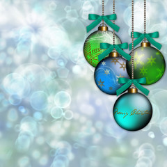 Blue Green Ornament Christmas Background