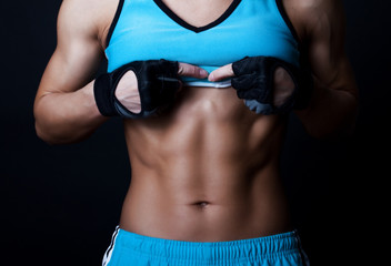 Picture of muscular torso